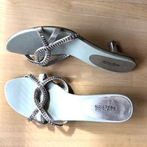 Kenneth Cole Reaction Silver Dressy Sandals